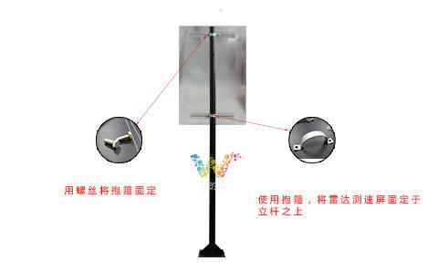 雷达测速屏安装方式